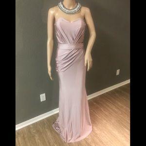 ATRIA Couture Formal Dress in Blush- Hidden corset